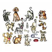 Sizzix Framelits Die Set 45PK - Mini Crazy Cats & Dogs by Tim Holtz