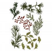 Sizzix Thinlits Die Set 11PK - Holiday Greens, Mini by Tim Holtz