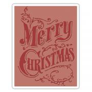 Sizzix Texture Fades Embossing Folder - Christmas Scroll