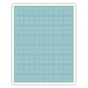 Sizzix Texture Fades Embossing Folder - Stitched Plaid