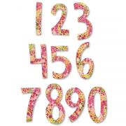 Sizzix Bigz Alphabet Set 2 Dies - Fresh Blossoms Numbers