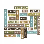 Sizzix Thinlits Die Set 27PK - Traveler Words, Thin