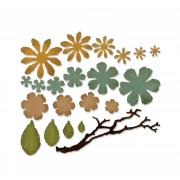 Sizzix Thinlits Die Set 21PK - Small Tattered Florals by Tim Holtz