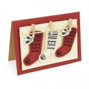 Sizzix Framelits Die Set 2PK w/Stamps - Fairisle Stocking
