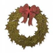 Bigz Die w/Texture Fades - Layered Holiday Wreath