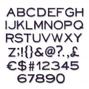 Sizzix Thinlits Die Set 121PK - Alphanumeric, Thin