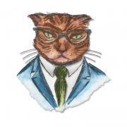 Sizzix Framelits Die Set 4PK - Hipster Cat