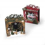 Sizzix Thinlits Die Set 19PK - Holiday Shadow Box