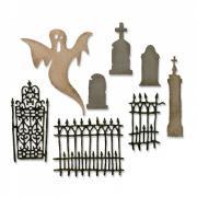 Thinlits Die Set 8PK - Village Graveyard by Tim Holtz