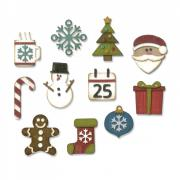 Sizzix Thinlits Die Set 11PK - Mini Christmas Things