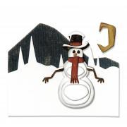 Sizzix Thinlits Die Set 10PK - Snowman Scene by Tim Holtz