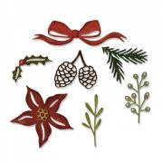 Sizzix Thinlits Die Set 9PK - Festive Greens