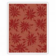 Sizzix Texture Fades Embossing Folder - Poinsettias