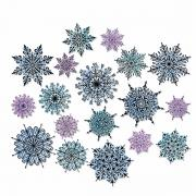 Sizzix Framelits Die Set 18PK - Swirly Snowflakes