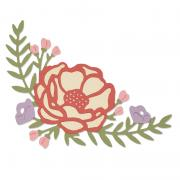 Sizzix Thinlits Die Set 2PK - Pretty Peony