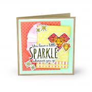 Sizzix Framelits Die Set 6PK w/Stamps - Sparkle