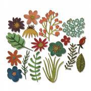 Sizzix Thinlits Die Set 15PK - Funky Floral