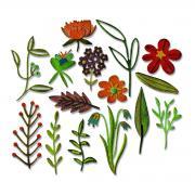 Sizzix Thinlits Die Set 15PK - Funky Floral #2