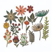 Sizzix Thinlits Die Set 15PK - Funky Floral #3