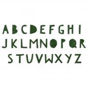 Sizzix Bigz Alphabet Die - Cutout Upper