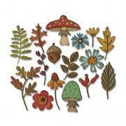 Sizzix Thinlits Die Set 20PK - Funky Foliage
