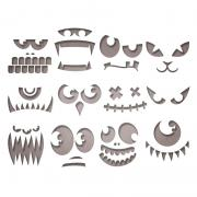 Sizzix Thinlits Die Set 12PK - Frightening Faces