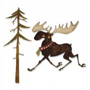 Sizzix Thinlits Die Set 7PK - Merry Moose