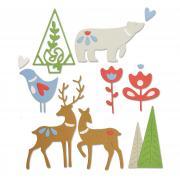 Sizzix Thinlits Die Set 10PK - Christmas Elements