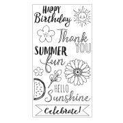 Sizzix Clear Stamps - Hello Sunshine