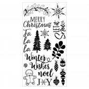 Sizzix Clear Stamps - Winter Phrases