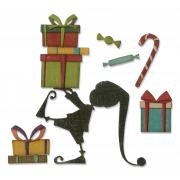 Sizzix Thinlits Die Set 11PK - Santa's Helper by Tim Holtz