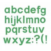 """Sizzix Bigz Alphabet Set 7 Dies - Block 1 1/2"""" Lowercase Letters & Punctuation"""