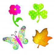 Sizzix Bigz Die - Butterfly Flower Leaf & Shamrock