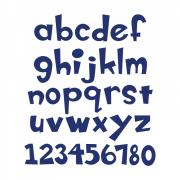 """Sizzix Bigz XL Alphabet Die - Boss-O! 1 1/2"""" Lowercase Letters & Numbers"""