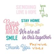 Sizzix Thinlits Die Set 8PK - Good Vibes