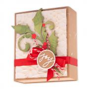 Seasonal Scroll & Crackle Embossing Folder