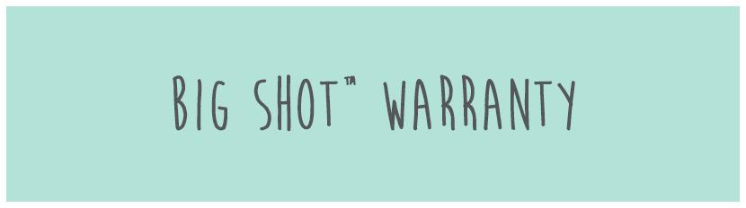 Big Shot Warranty