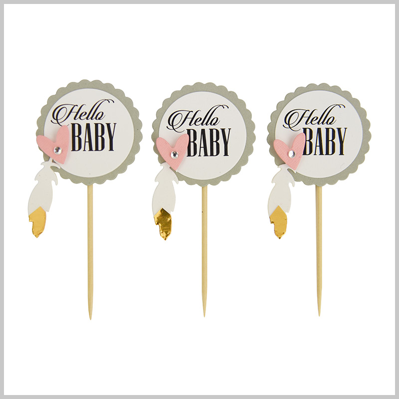 Hello Baby Cake Toppers