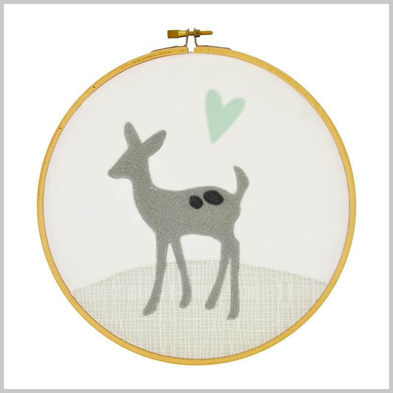 Deer Embroider Hoop
