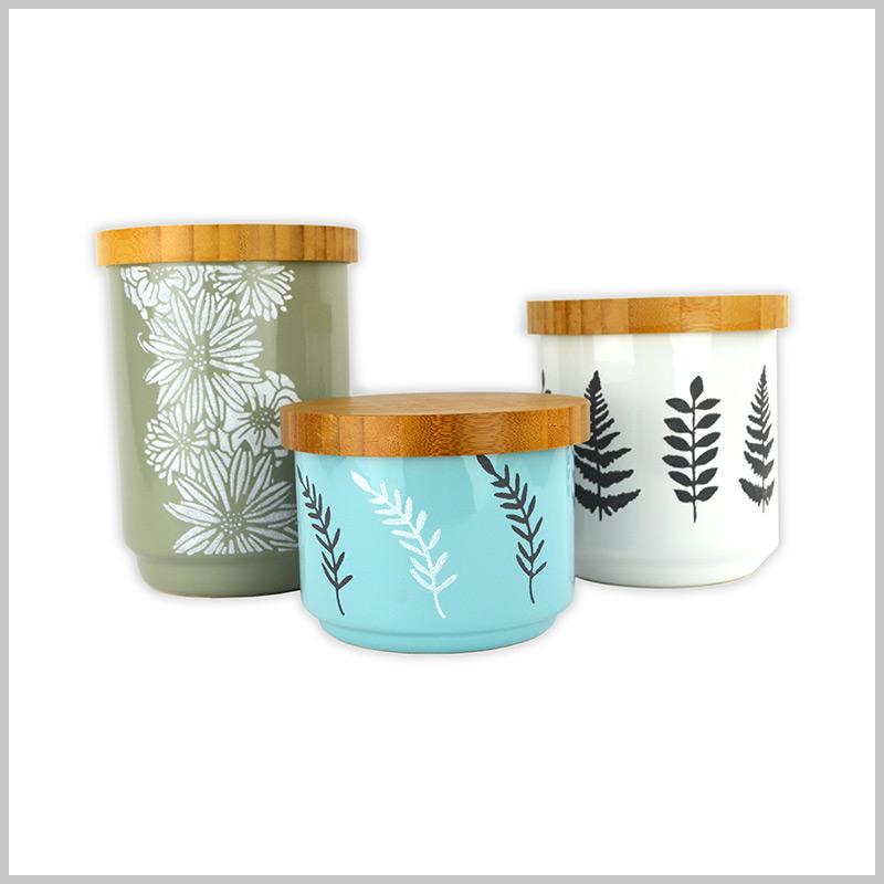 Stencilled Storage Jars