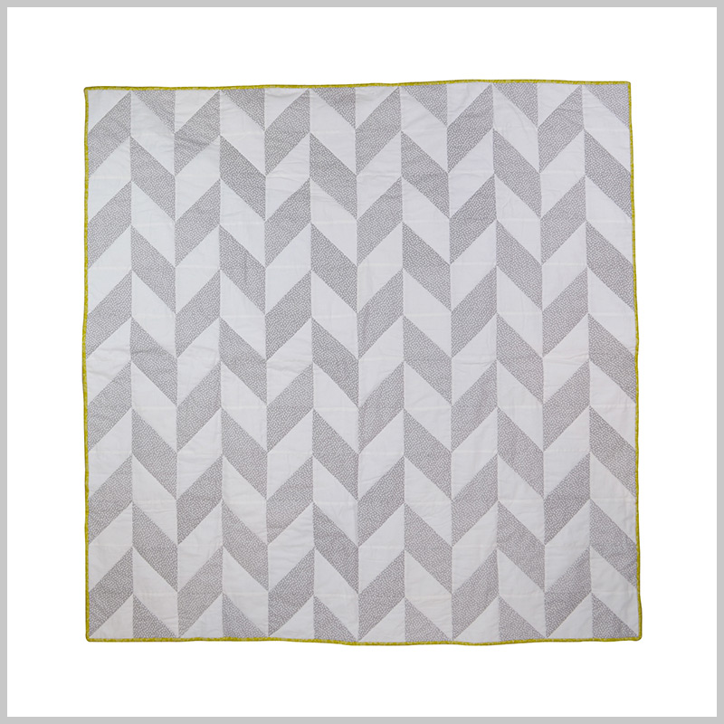 Quilted Chevron Throw