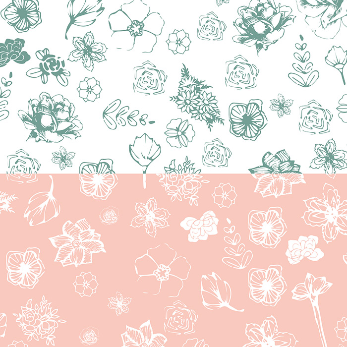 Floral Wedding Papers