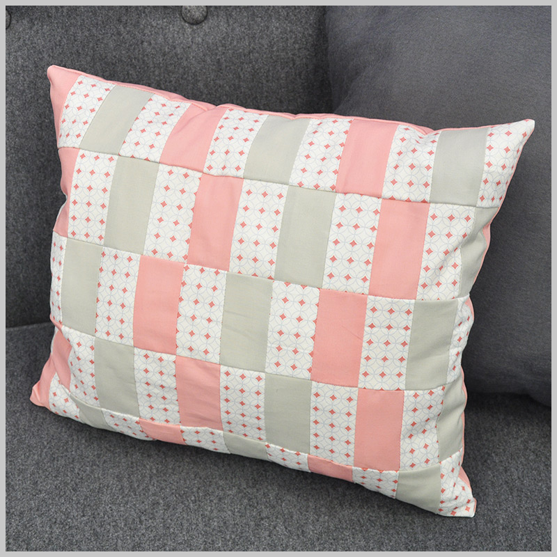 Repeating Rectangles Cushion