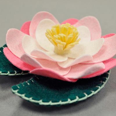 Felt Lotus Flower