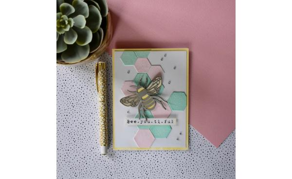 Heat Embossed Bee Card