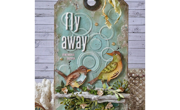 Fly Away Home Decor Tag by Emma Williams