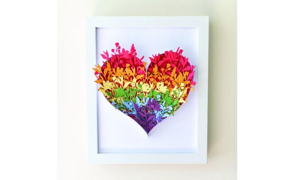Papercraft Rainbow Heart