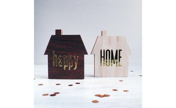 Home Decor: Set of 2 cardboard houses - VIDEO