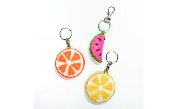 Felt Fruit keyring