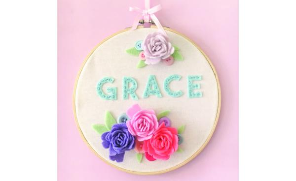 Soft Craft Name Hoop